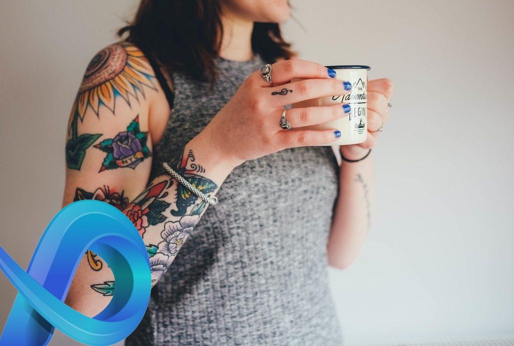 tatouage motif fleur