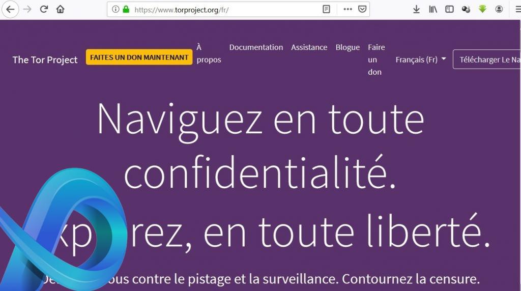 Site officiel du projet Tor