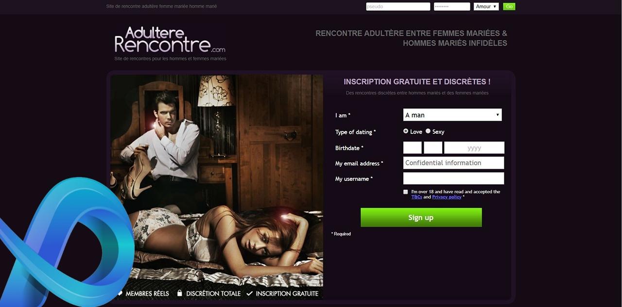 Applications et sites de rencontres adultère