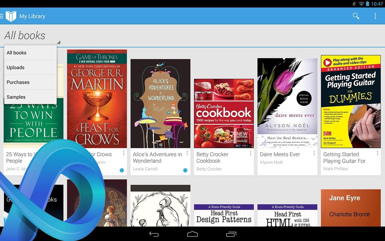 Meilleures applications epub Android.