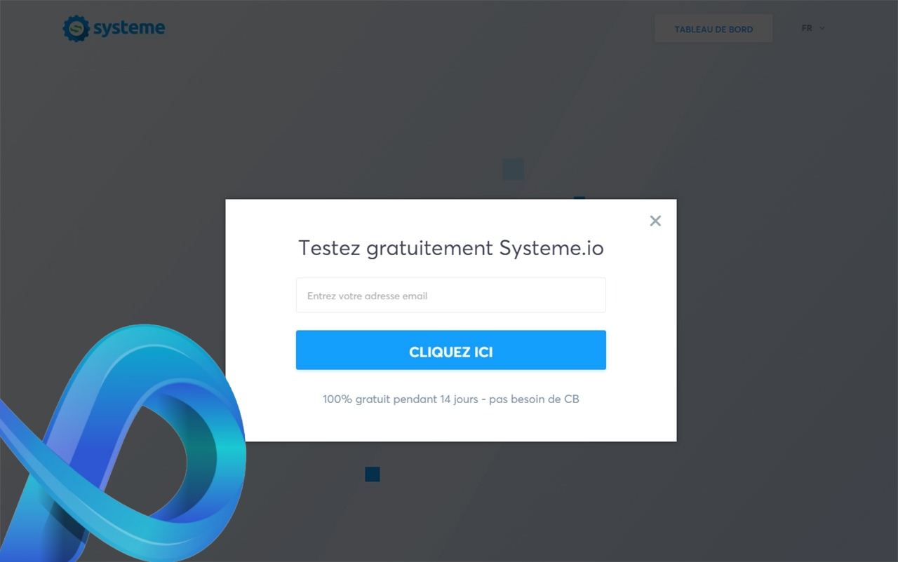 Systeme.io est un outil de conception et de gestion de marketing digital.