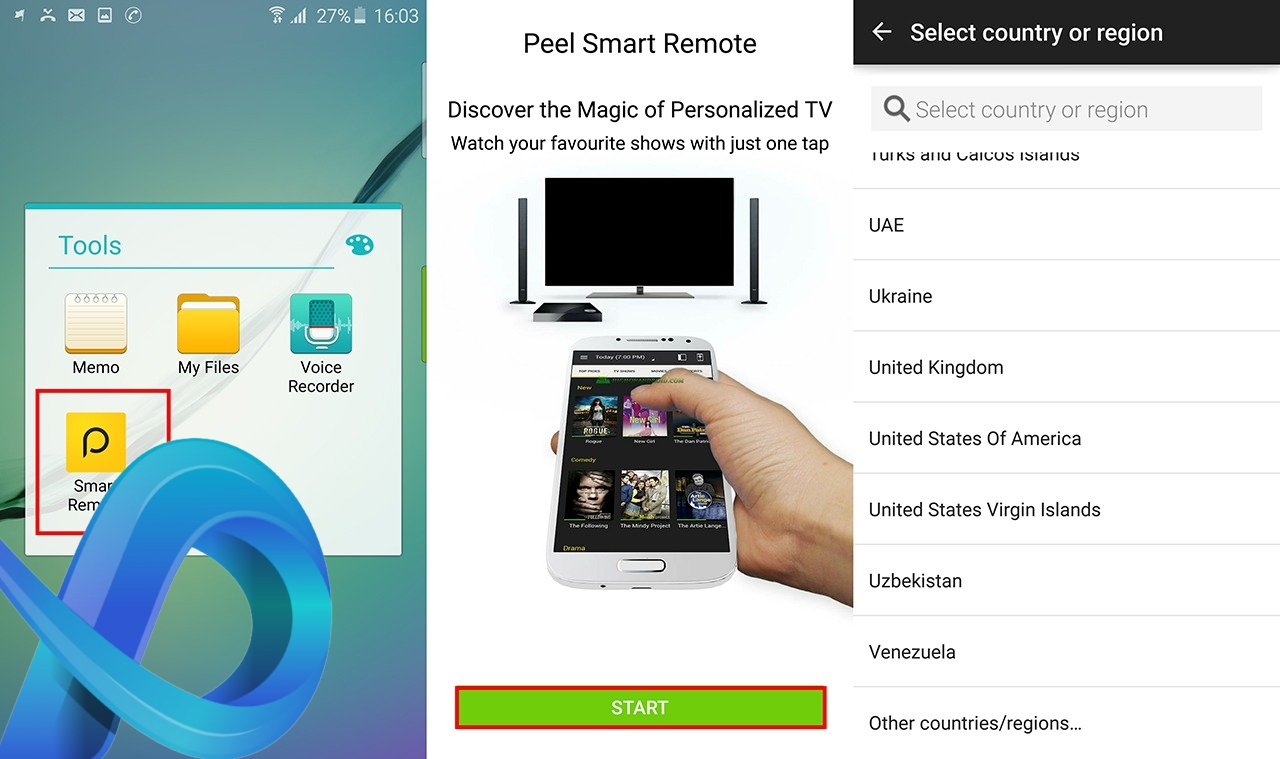 Guide Peel Smart Remote