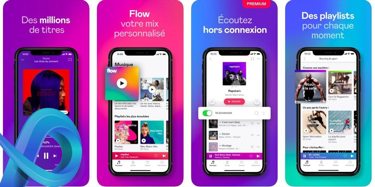 Application musique gratuite Deezer