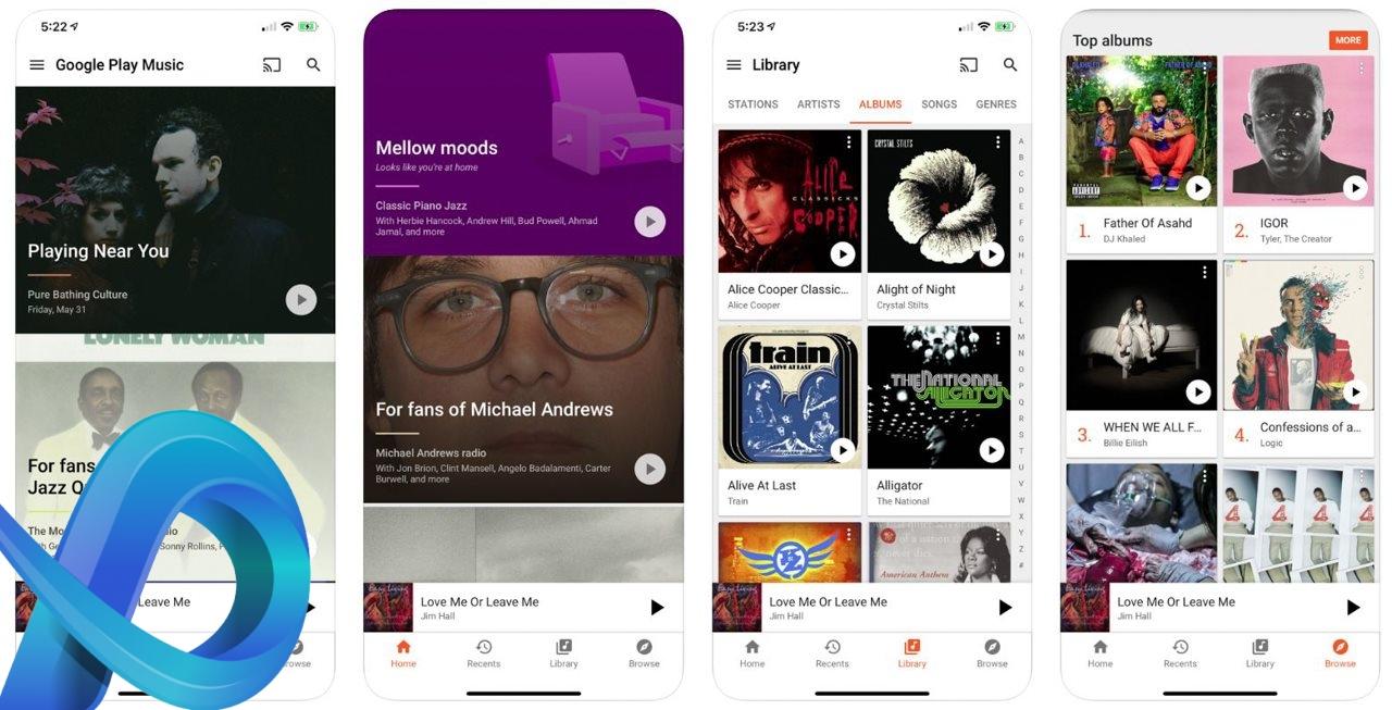 Application musique gratuite Google Play Music