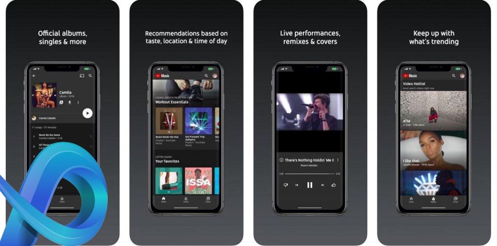 Application musique gratuite YouTube Music