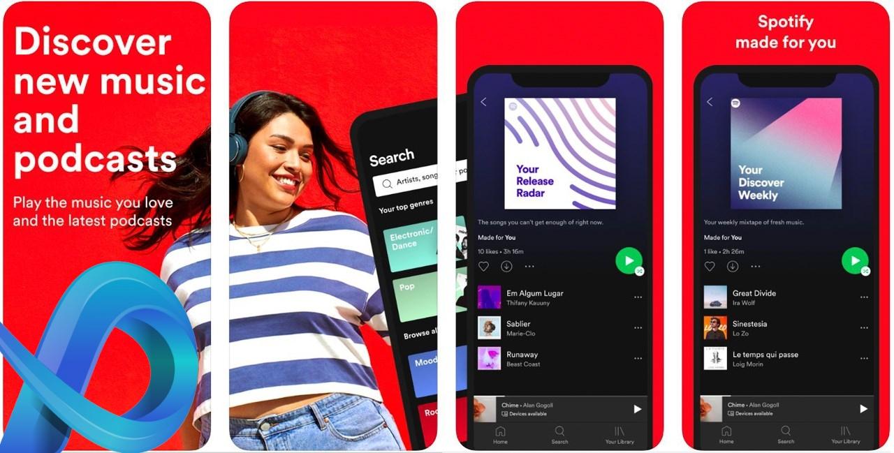 Application musique gratuite Spotify