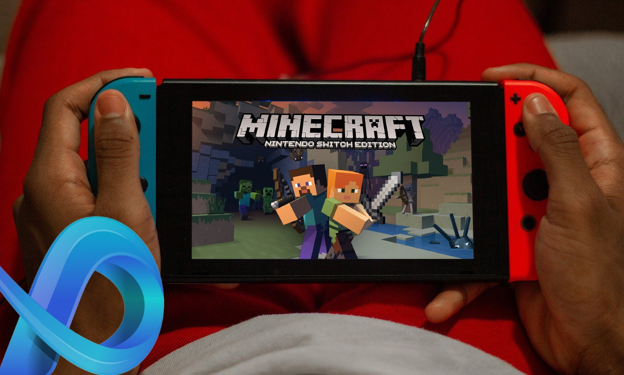 Minecraft sur Nintendo Switch.