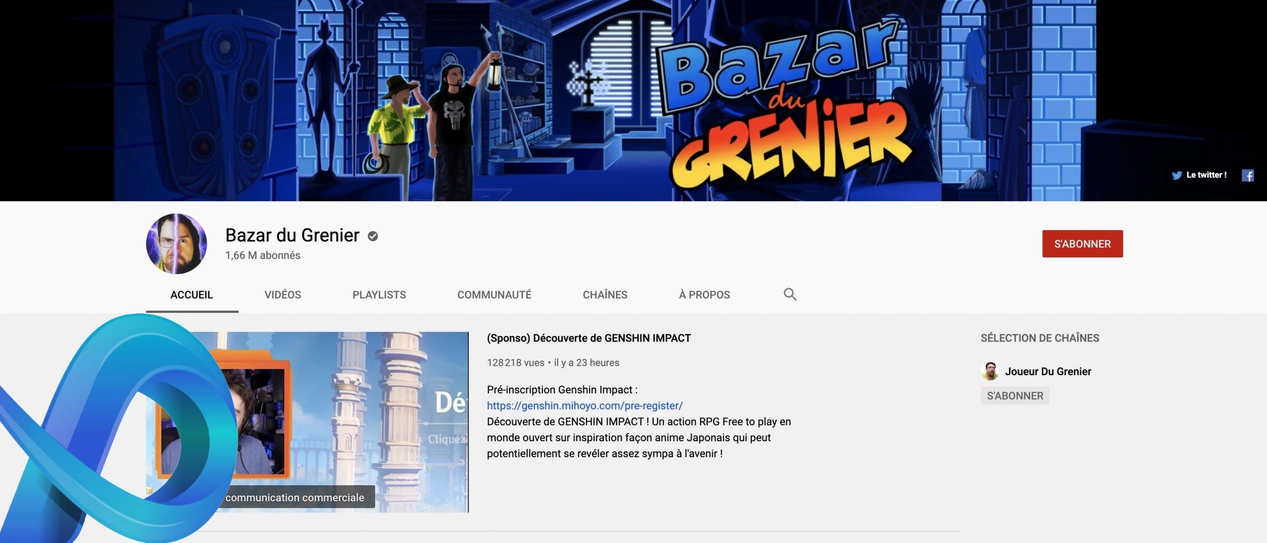 Chaîne YouTube du Bazar du Grenier